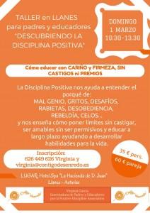 Primer taller de Disciplina Positiva en Llanes