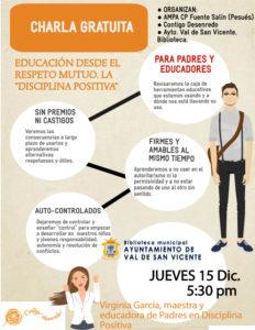 Charla Educación Respetuosa y Disciplina Positiva